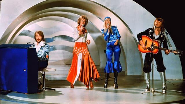 Le groupe Abba sur scène