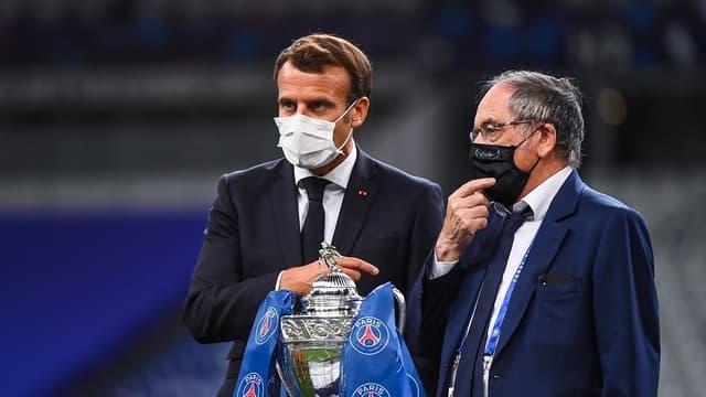 Emmanuel Macron et Noël Le Graët