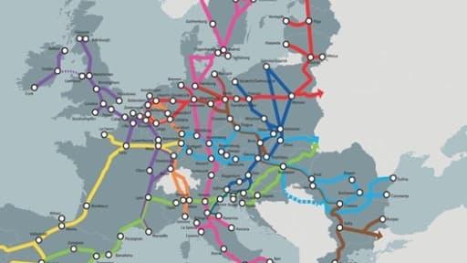 L'Europe veut organiser le réseau de transport européen autour de neuf corridors qui combineront chacun au moins trois mode de transports.