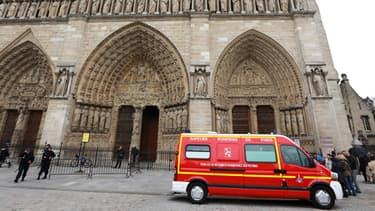 La cathédrale Notre-Dame a été évacuée.