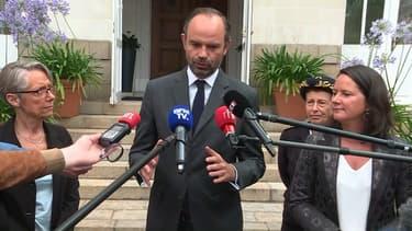 Edouard Philippe et Johanna Rolland (à droite sur la photo), la maire de Nantes.