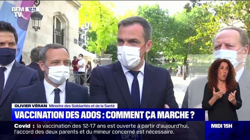 """""""Il faut l'autorisation des deux parents"""": Olivier Véran s'exprime sur la vaccination des ados"""