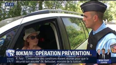 Baisse de la vitesse à 80 km/h, les gendarmes jouent la prévention