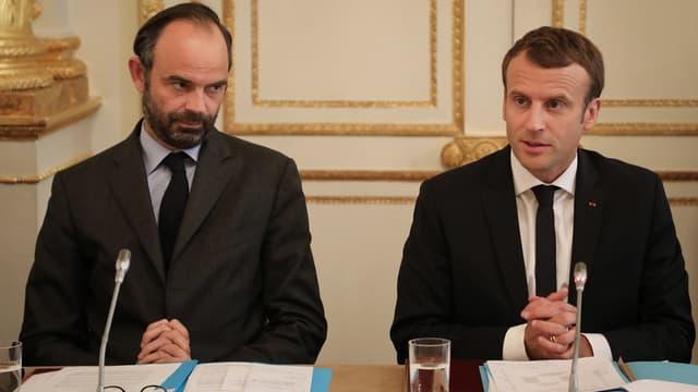 Édouard Philippe et Emmanuel Macron