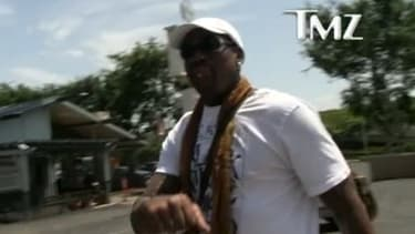 Dennis Rodman dans les rues de Los Angeles