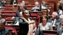 La ministre de la Justice Christiane Taubira à la tribune du Sénat