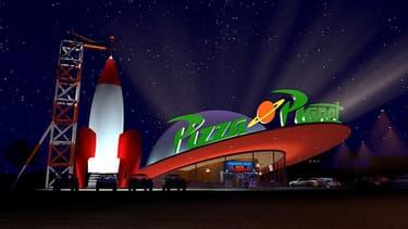 """Le Pizza planet, restaurant à thème dans """"Toy's Story""""."""