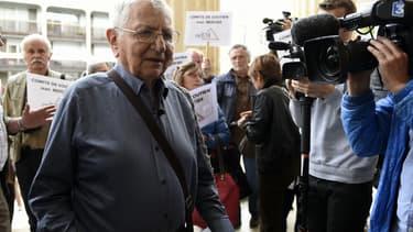 Jean Mercier à l'ouverture de son procès mardi, à Saint-Etienne.