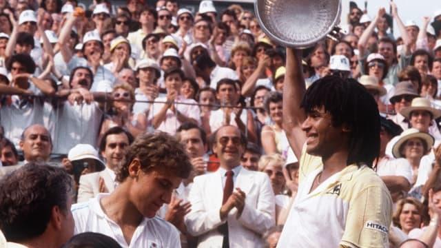 Yannick Noah, vainqueur de Roland-Garros en 1983
