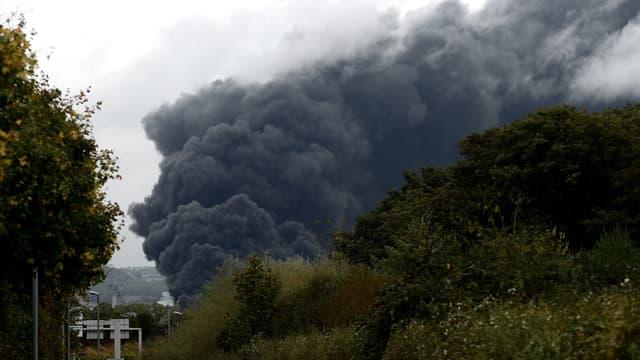 Photo du nuage de fumée à Rouen, jeudi 26 septembre 2019