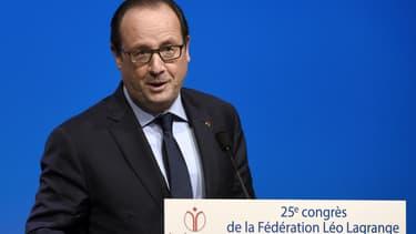 François Hollande prononce un discours à Dijon, le 26 octobre 2014.