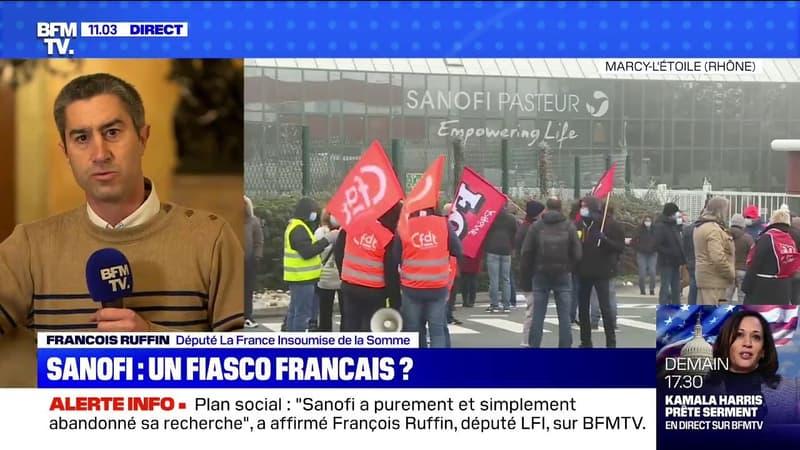 """François Ruffin (LFI) sur les 400 postes supprimés chez Sanofi: """"On a détruit l'outil industriel"""""""
