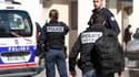 Des policiers, le 9 août 2017 à Levallois-Perret