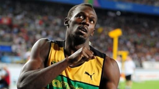 Usain Bolt est champion du monde sur le 100 m et le 200 m.