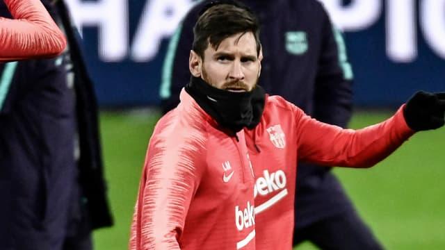 Leo Messi à l'entraînement