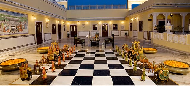 Jeu d'échec du Raj Palace Hotel