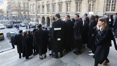 Les avocats se sont mobilisés le 26 janvier dernier au tribunal de Paris.