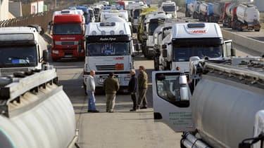 Les routiers prévoient un mouvement lundi 25 septembre  (photo d'illustration)