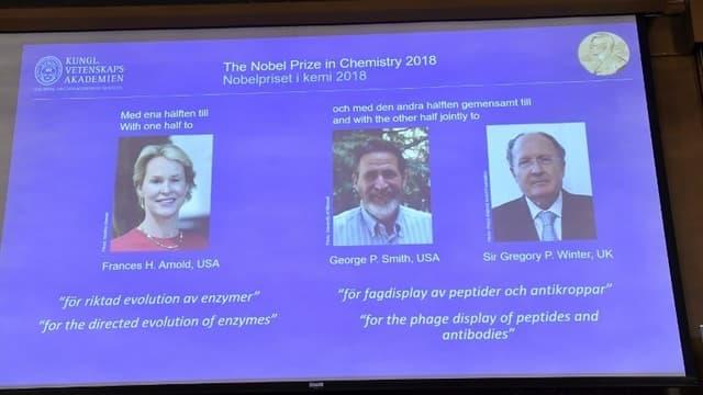 Le prix Nobel a récompensé deux Américains et un Britannique.