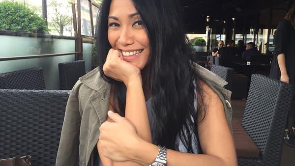 Anggun à Paris, le 13 mai 2016.