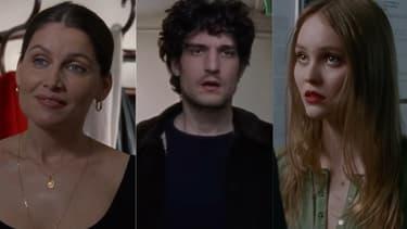 """Laetitia Casta, Louis Garrel et Lily-Rose Depp dans """"L'Homme fidèle"""""""
