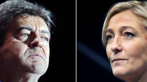 Jean-Luc Mélenchon et Marine Le Pen, tous deux têtes de listes dans le Sud-Ouest et le Nord-Ouest, représenteront leurs partis respectifs jeudi soir lors d'un débat sur les européennes.