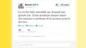 Capture d'écran du compte Twitter français du Pape