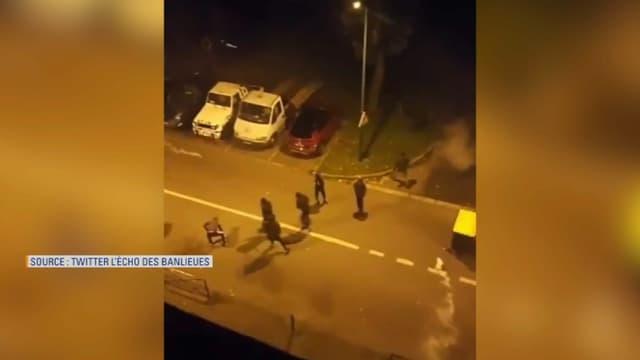 Des affrontements ont eu lieu entre jeunes et policiers à Mantes-la-Jolie.