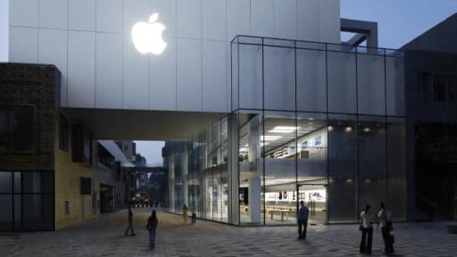 Un Apple Store à Pékin, en Chine, un pays où le groupe compte se développer de manière exponentielle.