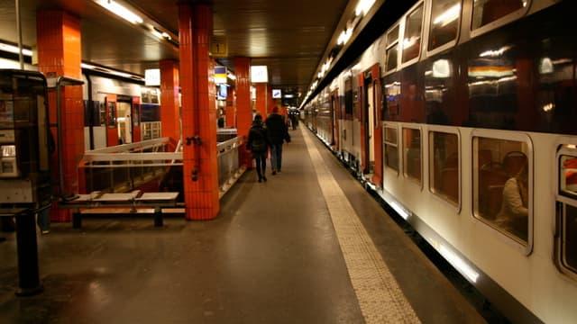 Les quais du RER C. (Photo d'illustration)