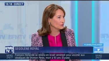 """Ségolène Royal: """"Le temps est fini où l'on pouvait gagner des points électoraux en faisant la polémique quotidienne"""""""