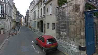 La rue Beffroy où s'est produit le drame, dans le centre-ville de Rouen.