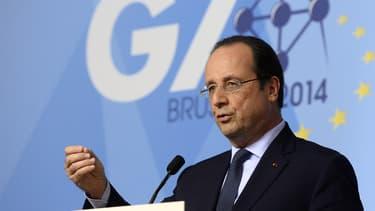François Hollande au sommet du G7 à Bruxelles, le juin 2014.
