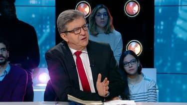 Jean-Luc Mélenchon dans l'émission BFM Politique, le dimanche 2 décembre.