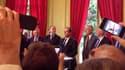 François Hollande face aux parlementaires, à la maison de l'Amérique Latine, à Paris