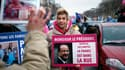 Frigide Barjot, dimanche, lors d'un happening des opposants au mariage homosexuel, à Paris