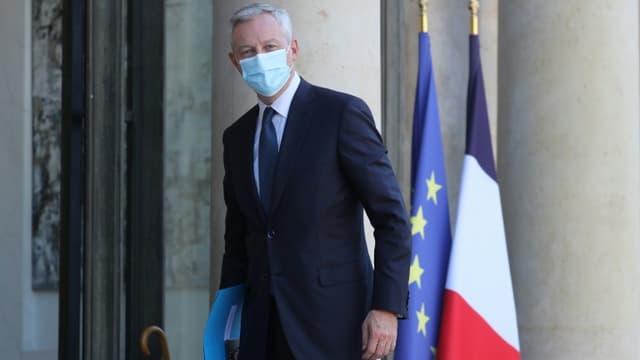 Le ministre de l'Economie Bruno Le Maire, à l'Elysée le 14 septembre