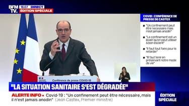 """Covid-19: le gouvernement envisage des mesures renforcées """"à compter du week-end du 6 mars"""" dans 20 départements, """"si la situation continue de se dégrader"""""""