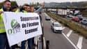 Des chauffeurs routiers protestant contre l'écotaxe en novembre 2013.