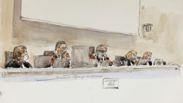 Au procès de Charlie Hebdo au tribunal de Paris, le 16 septembre 2020