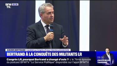 Congrès LR: Xavier Bertrand lance sa campagne à Oyonnax