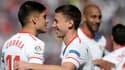 Clément Lenglet et Joaquin Correa au FC Séville