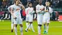 Les joueurs de Leipzig déçus après la défaite face à Francfort