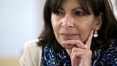 Anne Hidalgo, candidate à la mairie de Paris en 2014.