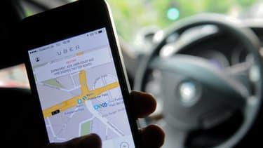 Une course en Uber (photo d'illustration).