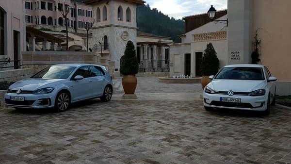La Golf GTE adopte une face avant légèrement plus agressive que sa cousine 100% électrique.