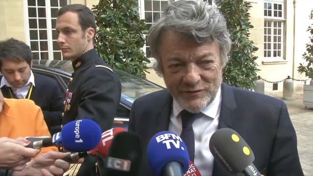 L'ancien ministre Jean-Louis Borloo, le 26 avril 2018 à l'hôtel de Matignon à Paris.