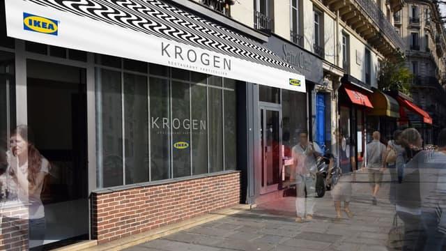 Ce restaurant porte le doux nom de Krogen