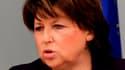 Les Français verraient bien Martine Aubry à Bercy dans l'hypothèse où un seul ministre serait en charge de l'Economie, des Finances et de l'Industrie à la faveur d'un remaniement, selon un sondage Ifop pour le Journal du Dimanche. /Photo d'archives/REUTER