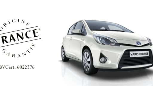 Toyota a recu le label Origine France garantie pour sa Yaris produite à Valenciennes.
